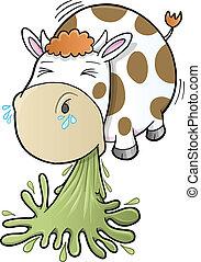 barfing, vache, vomissements
