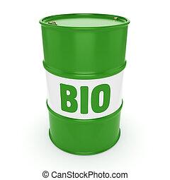 baril, biofuels, rendre, 3d