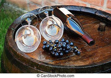 baril, bois, vin