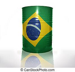 baril, drapeau, brésilien