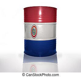 baril, drapeau, paraguayen