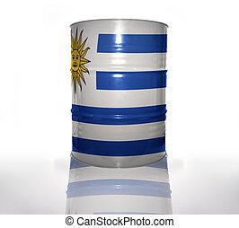baril, uruguayen, drapeau