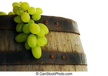 baril, vin raisin