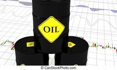 barils, market., huile, stockage, 47