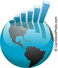 barre, business, graphique, global, croissance, mondiale