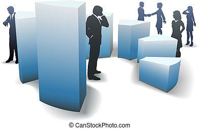 barre, professionnels, graphique, formes, circulaire