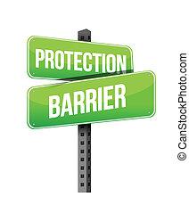 barrière, illustration, signe, protection, conception, route