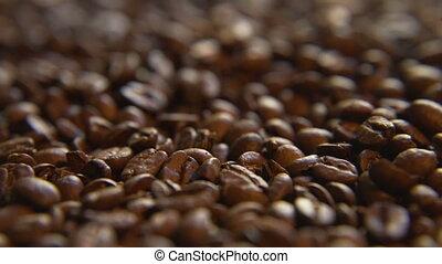 bas, haricots, café, tas