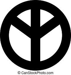 bas, paix, dessus, signe