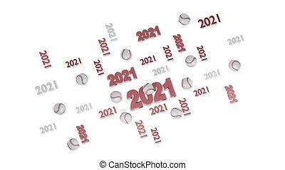 base-ball, beaucoup, loopable, 2021, réflexions, mouvement, conceptions, blanc