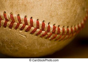 base-ball, gros plan, balle