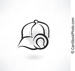 base-ball, grunge, icône