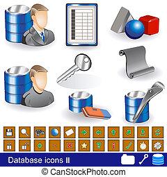 base données, 2, icônes