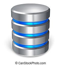 base données, disque, dur, icône