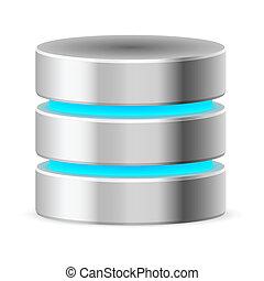 base, données, icône