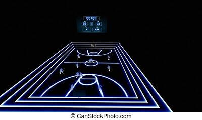 basket-ball, animation, 1