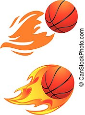basket-ball, balles, flamboyant