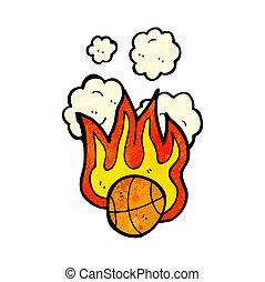 basket-ball, flamboyant, dessin animé
