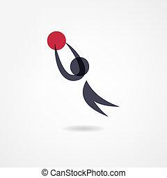 basket-ball, icône