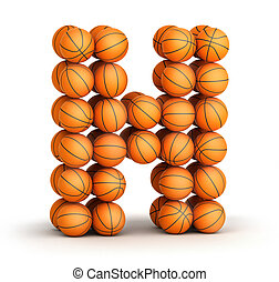 basket-ball, lettre h