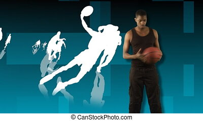 basket-ball, projection, animation, 3d