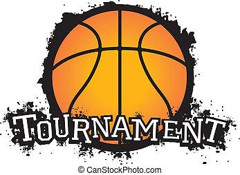 basket-ball, tournoi, vecteur