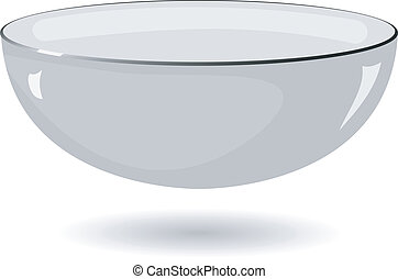 bassin métal, illustration, vecteur, fond, blanc