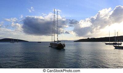bateau, 2, nautisme, luxueux