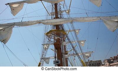 bateau, 3, vieux, nautisme
