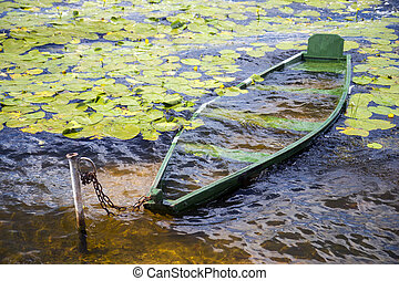 bateau, couler
