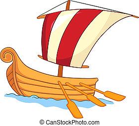 bateau, dessin animé
