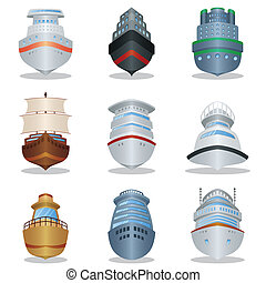 bateau, icônes