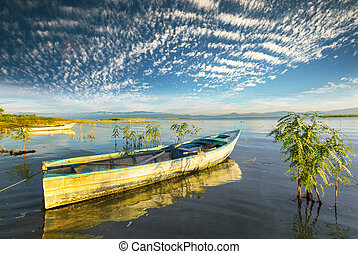 bateau, lac