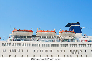 bateau, lifeboats., croisière