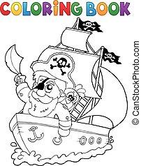 bateau, livre coloration