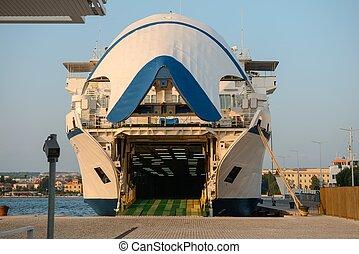 bateau passager, ferry-boat, dock