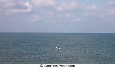 bateau, peche, mer