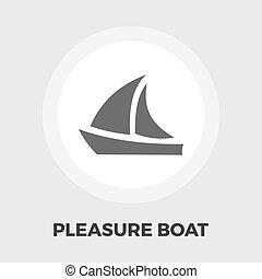 bateau plaisance, icône