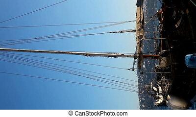 bateau, vieux, vertical