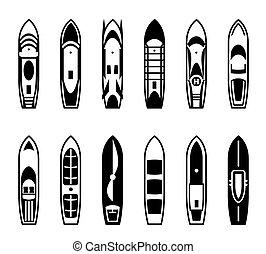 bateaux, passager, bateaux