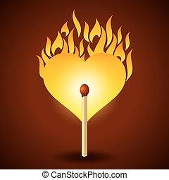 baton allumette, brûlé