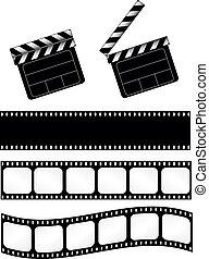 battant, film, bandes, pellicule
