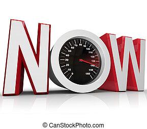 battement, compteur vitesse, urgent, date limite, maintenant, courses