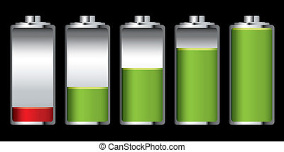 batterie, charge, étape