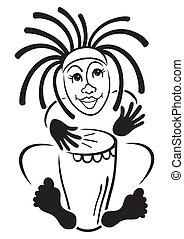 batteur, rastafarian