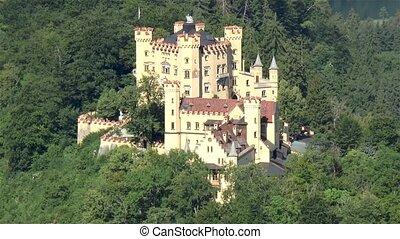 bavière, château, hohenschwangau, germany.