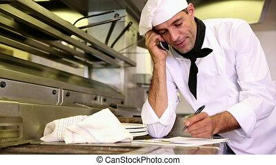 beau, écriture, chef cuistot, presse-papiers