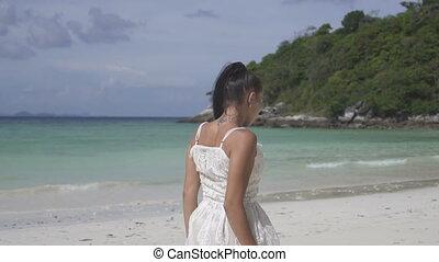 beau, île, girl, exotique