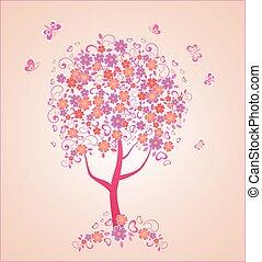 beau, arbre