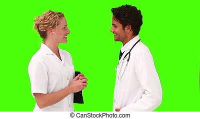 beau, avoir, médecins, deux, réunion